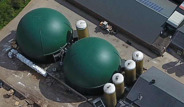 Biogas dak voor biogasopslag, Albers Alligator.