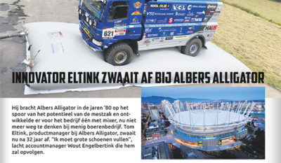 Tom Eltink zwaait af, Albers Alligator.
