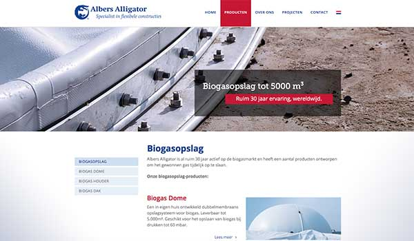 Nieuwe website Albers Alligator.